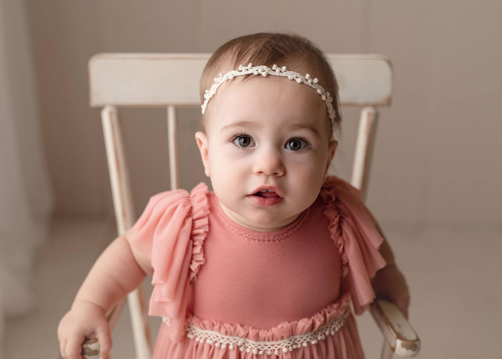baby girl milestone session