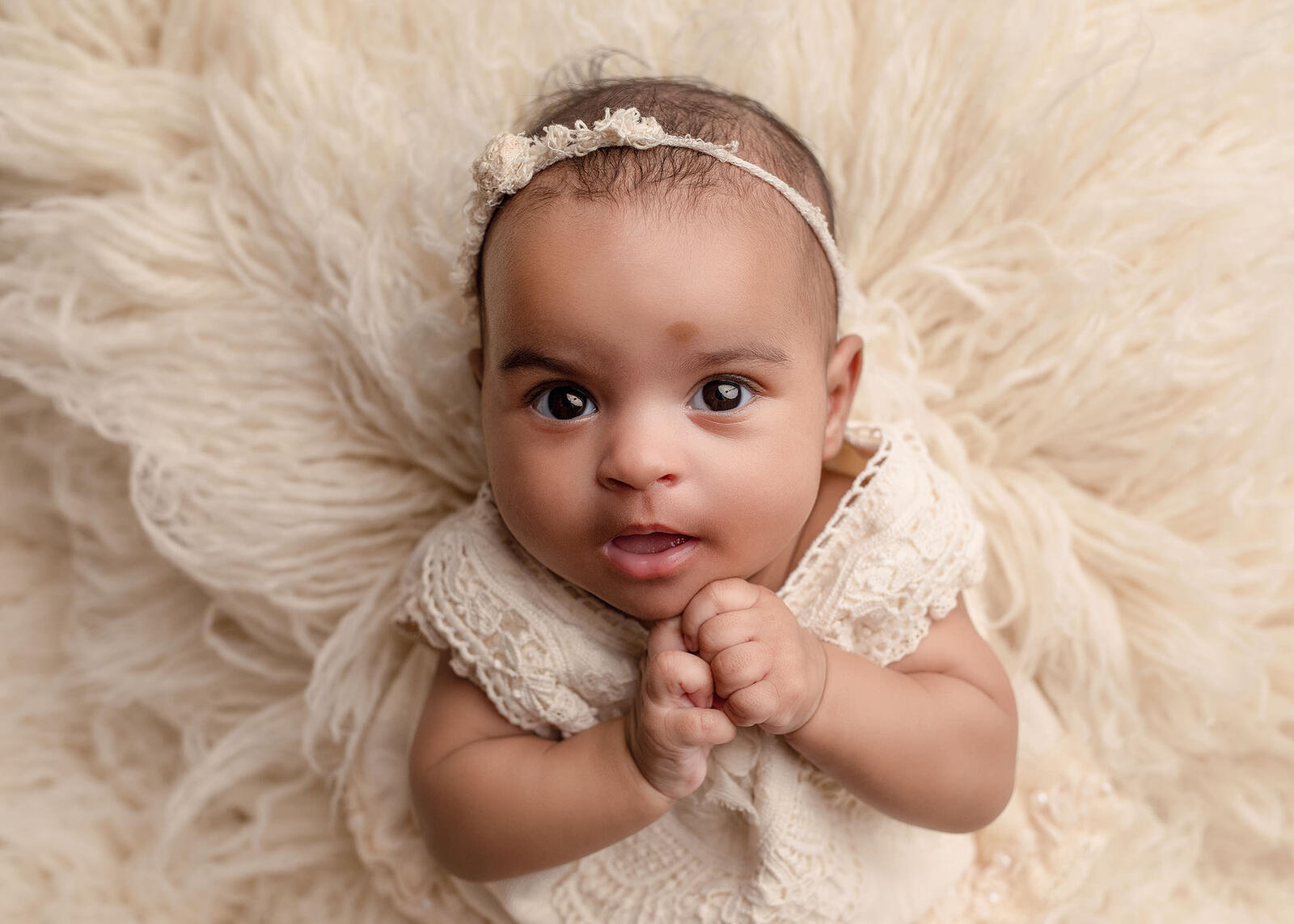 3 month old girl photo session